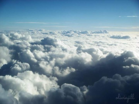 clouds, sky, cottony clouds, horizon, blue sky, white sky, airplane window view