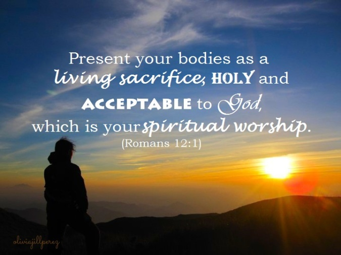 Romans 12:1, Bible, present your bodies, offer yourselves, offering, sacrifice, living sacrifice, holy to the Lord, acceptable to God, spiritual worship, Mt. Pulag, Sunrise, mountaineering, hiking, trekking, early morning, sun, orange sun, blue sky, clear sky, ambangeg trail, its more fun in the Philippines, Philippines