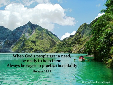 Romans 12:13, Mt. Pinatubo Crater Lake, Zambales Mountains, Philippines