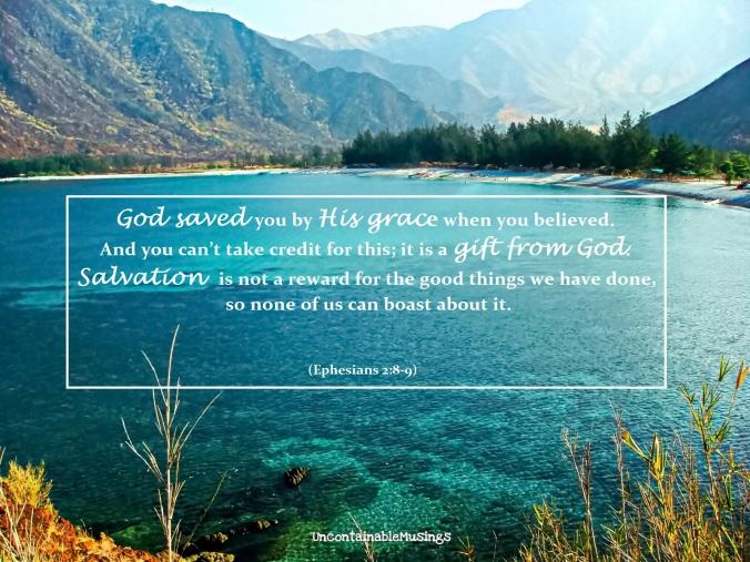 Ephesians 2:8-9, Anawangin Cove, Zambales, Philippines