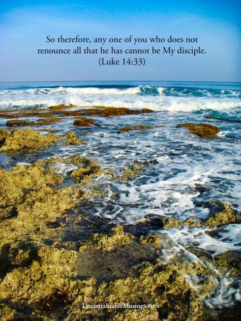 Luke 14:33, cost of discipleship, uncontainablemusings.com