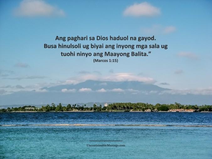 Marcos 1:15, Gospel, repent and believe